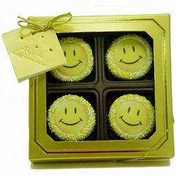 Smiley Face Chocolate Dipped Oreos Gift Box