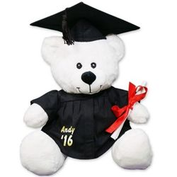 Personalized White Graduation Teddy Bear