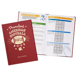 Personalized Football Quiz Book