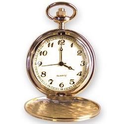 Personalized Engraved Gold Tone Pocket Watch