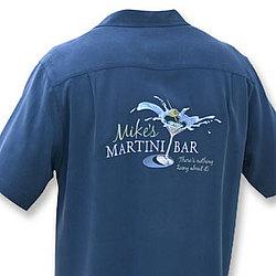 Mike's Martini Bar Silk Shirt