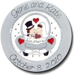 Personalized Love Car Wedding Plate