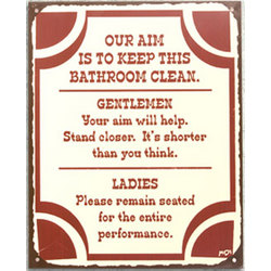 Keep This Bathroom Clean Metal Sign