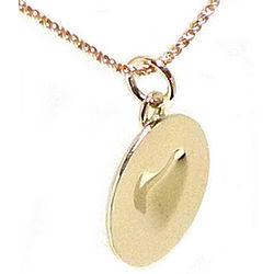 18k Gold Melting Heart Necklace