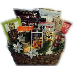 Season's Greetings Healthy Holiday Gift Basket