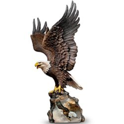 Canyon Guardian Eagle Art Sculpture