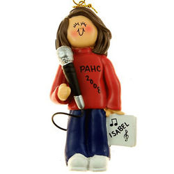 Personalized Female Singer Christmas Ornament