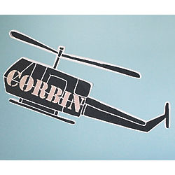 Personalized Army Helicopter Wall Decal