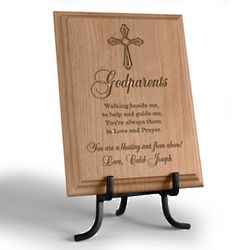 Personalized Godparent Wooden Plaque