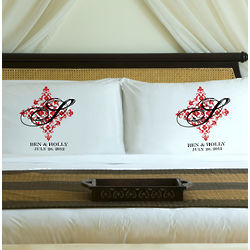 Personalized Perfect Panache Couples Pillow Case Set