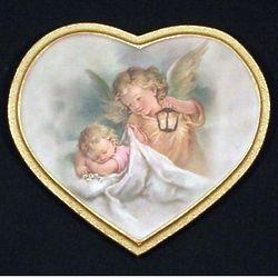 Guardian Angel Heart Plaque