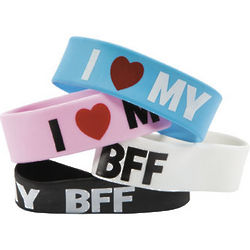 I Love My BFF Big Band Bracelets