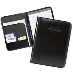 Personalized Make It Happen Black Leather Padfolio