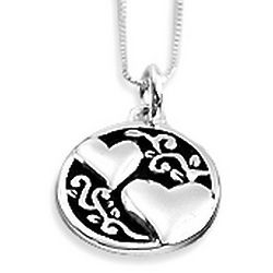 Sister and Friend Heart Necklace