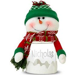 Personalized Snowman Treat Jar