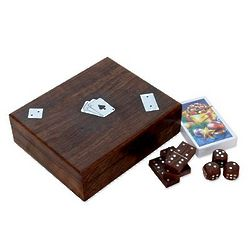 High Stakes Hand-Carved Wood Game Set