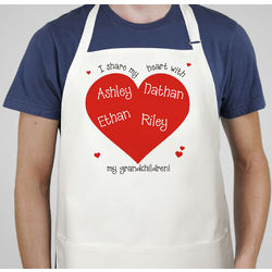 I Share My Heart Personalized Apron