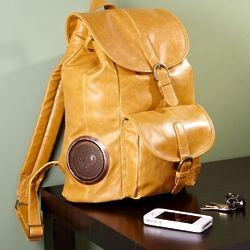 Rock My Way Latte Leather Bookbag