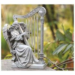 Garden Angel with Harp Chimes