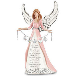Granddaughter Angel Figurine with Heart Shaped Charms
