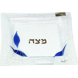 Glass Matzah Plate for Passover
