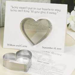 Wedding Cookie Cutters with Card Favor