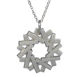 Platinum Circle Duality Necklace