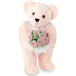 "15"" Pink Rose Bouquet Bear"