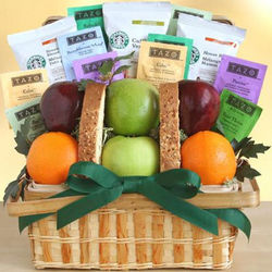 Starbucks Coffee and Fruit Gift Basket