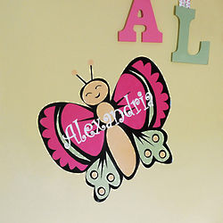 Personalized Butterfly Wall Decal