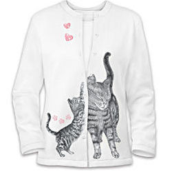 Welcome Home Cat Art Sweater