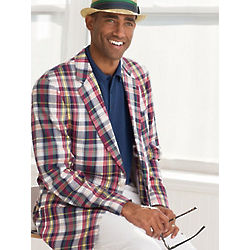 Madras Cotton Two-Button Sportcoat