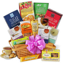 Premium Tea and Cookies Basket