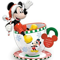 Mickey's Christmas Cheer Teacup Figurine