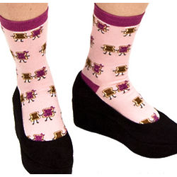 Peanut Butter and Jelly Crew Socks