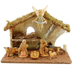 Italian Nativity with Stable