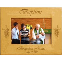 Personalized Baptism Alderwood Frame