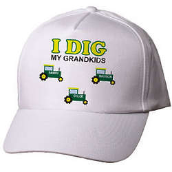 Personalized I Dig My Kids Hat