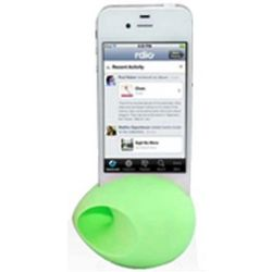 Lime Green iPhone Silicone Egg Amplifier and Speaker Stand