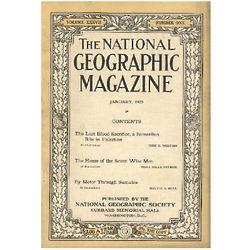 Genuine Old National Geographic Magazine from Special Date