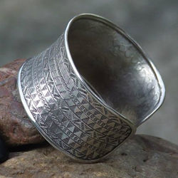 Hill-Tribe Woven Sterling Silver Cuff
