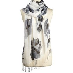 Monochrome Blooms Scarf