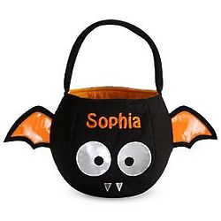 Bat Personalized Reflective Halloween Treat Bag