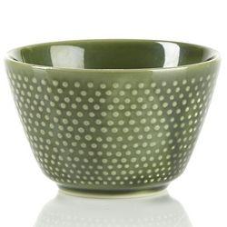 Porcelain Green Hobnail Tea Cup
