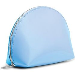 Blue Mist Leather Cosmetic Pouch