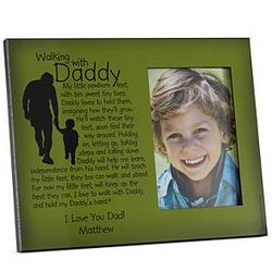 Personalized Walking with Daddy Memories Photo Frame