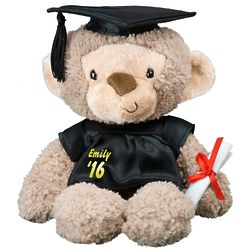Personalized Graduation Cap and Gown Monkey