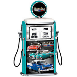Tri-Five Chevrolet Bel Air Gas Pump with Light Up Globe