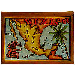 Map of Mexico Leather Photo Album in Color