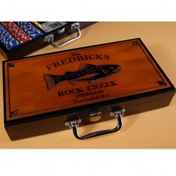 Personalized Cabin Series Poker Set
